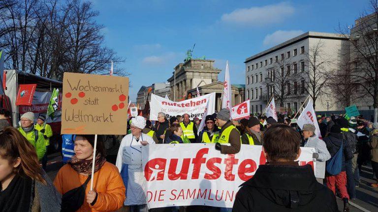 Aufstehen AG Umwelt Wir haben es satt Demo 2019
